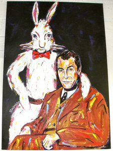 Jimmy Stewart & Harvey the Rabbit Pooka 43x63 John Stango ...