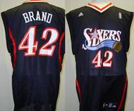 Elton Brand Philadelphia 76ers Black #42 Adidas XL Road Jersey