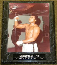 """Muhammad Ali """"THE GREATEST OF ALL TIME"""" 10.5x13 Boxing Plaque"""