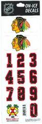 Chicago Blackhawks Sportstar Officially Licensed Authentic Center Ice NHL Hockey Helmet Decal Kit #1