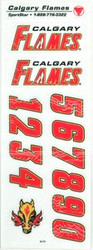 Calgary Flames Sportstar Officially Licensed Authentic Center Ice NHL Hockey Helmet Decal Kit #1