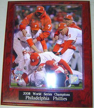 Philadelphia Phillies 2008 World Series Champions MLB 10.5x13 Plaque - PLAQUE-2008WSC13