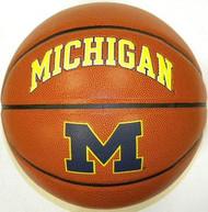 Michigan Wolverines NCAA Rawlings Triple Threat Full Size Basketball