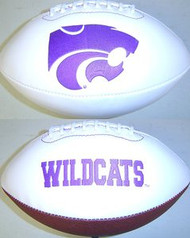 Kansas State Wildcats Rawlings Jarden Sports Signature NCAA Full Size Fotoball Football - BLOWN UP with BOX & PEN