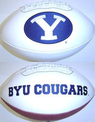 BYU Brigham Young Cougars Rawlings Jarden Sports Signature NCAA Full Size Fotoball Football - BLOWN UP with BOX & PEN