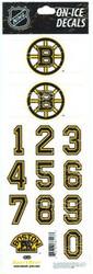 Boston Bruins Sportstar Officially Licensed Authentic Center Ice NHL Hockey Helmet Decal Kit #1
