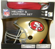 San Francisco 49ers Franklin Deluxe Youth / Kids Football Uniform Set - Size Small