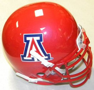 Arizona Wildcats Alternate Red Pearl Scarlet Schutt NCAA College Football Authentic Team Mini Helmet