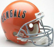 Cincinnati Bengals 1968-1979 Riddell NFL Authentic Pro Line Throwback Full Size Helmet