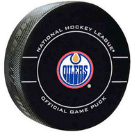 Edmonton Oilers 2010-2012 Design NHL Team Sher-Wood Official Ice Hockey Game Puck
