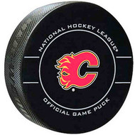 Calgary Flames 2010-2012 Design NHL Team Sher-Wood Official Ice Hockey Game Puck