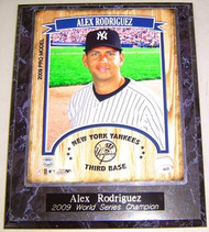 Alex Rodriguez New York Yankees 2009 World Series Champion 10.5x13 Plaque - rodriguez2009wsc