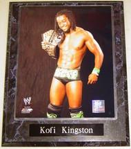 Kofi Kingston WWE Wrestling United States Champion 10.5x13 Plaque
