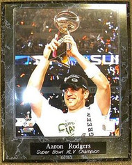 Aaron Rodgers Green Bay Packers Super Bowl XLV 45 Champions Trophy 10.5x13 Plaque