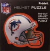 """Miami Dolphins Riddell NFL 16""""x16"""" Helmet Puzzle 100 Pieces"""