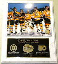Boston Bruins 2010 NHL Winter Classic 12 x 15 Plaque