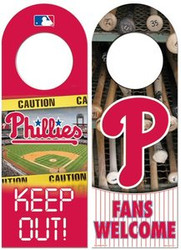 Philadelphia Phillies MLB Team Logo Wincraft 11.75x4.125 Wood Door Hanger