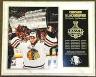 Antti Niemi Chicago Blackhawks 2010 Stanley Cup Champions NHL 15 x 12 Plaque