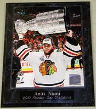 Antti Niemi Chicago Blackhawks 2010 Stanley Cup Champions NHL 10.5 x 13 Plaque