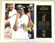 Kobe Bryant Los Angeles Lakers 2010 NBA Champions 12x15 Plaque