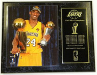 Kobe Bryant Los Angeles Lakers 2010 NBA Champions & Finals MVP 12x15 Plaque