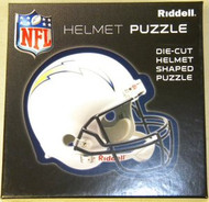 """San Diego Chargers Riddell NFL 16""""x16"""" Helmet Puzzle 100 Pieces"""