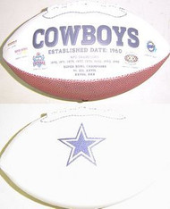 Dallas Cowboys Rawlings Jarden Sports Signature NFL Full Size Fotoball Football Current Version - DEFLATED without Box/Pen