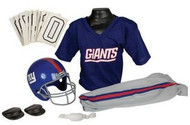 New York Giants Franklin Deluxe Youth / Kids Football Uniform Set - Size Small