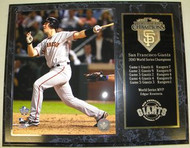 Buster Posey San Francisco Giants 2010 World Series Champions 12x15 Plaque - 2010wscpl4