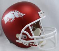 Arkansas Razorbacks RED MATTE Riddell NCAA Collegiate Deluxe Replica Full Size Helmet