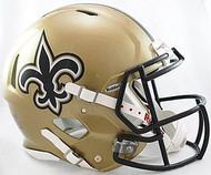New Orleans Saints Riddell NFL Authentic Revolution SPEED Pro Line Full Size Helmet