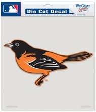 """Baltimore Orioles MLB Team Logo Wincraft 8"""" x 8"""" Die Cut Full Color Decal"""