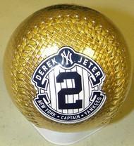 Derek Jeter New York Yankees #2 Gold Captain 2014 Final Season Retirement Rawlings Official Collectible Major League Baseball