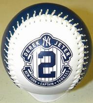Derek Jeter New York Yankees #2 White Captain 2014 Final Season Retirement Rawlings Official Collectible Major League Baseball