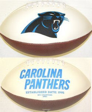Carolina Panthers Rawlings Jarden Sports Signature NFL Full Size Fotoball Football Current Version - DEFLATED without Box/Pen