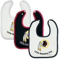 Washington Redskins NFL Football WinCraft Baby Bibs Set of 3