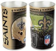 New Orleans Saints NFL Team Logo Wincraft Metal Tapered Wastebasket Trash Can