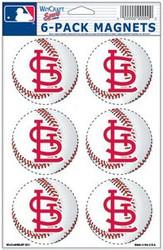 St. Louis Cardinals MLB Team Logo Wincraft Magnet 6-Pack