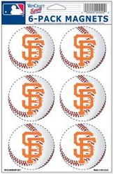 San Francisco Giants MLB Team Logo Wincraft Magnet 6-Pack