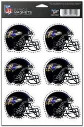 Baltimore Ravens NFL Team Logo Wincraft Magnet 6-Pack