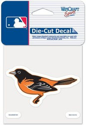 """Baltimore Orioles MLB Team Logo Wincraft 4"""" x 4"""" Die Cut Full Color Decal"""