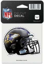 "Baltimore Ravens NFL Team Logo Wincraft 4"" x 4"" Die Cut Full Color Helmet Logo Decal"