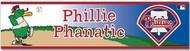 "Philadephia Phillies Phillie Phanatic MLB Team Logo Wincraft 3"" x 12"" Bumper Sticker Decal Strip"