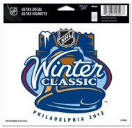 """2012 NHL Winter Classic Wincraft 4.5"""" x 6"""" Full Color Ultra Decal Cling Philadelphia 2012"""
