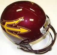 Arizona State Sun Devils MAROON Riddell NCAA Collegiate Deluxe Replica Full Size Helmet