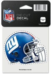 "New York Giants ""Helmet"" NFL Team Logo Wincraft 4"" x 4"" Die Cut Full Color Decal"