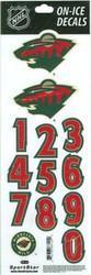 Minnesota Wild Sportstar Officially Licensed Authentic Center Ice NHL Hockey Helmet Decal Kit #3