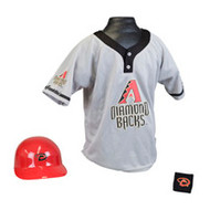 Arizona Diamondbacks Franklin Youth MLB Kids Team Helmet, Jersey & Wristband Set
