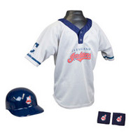 Cleveland Indians Franklin Youth MLB Kids Team Helmet, Jersey & Wristband Set