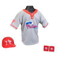 Philadelphia Phillies Franklin Youth MLB Kids Team Helmet, Jersey & Wristband Set